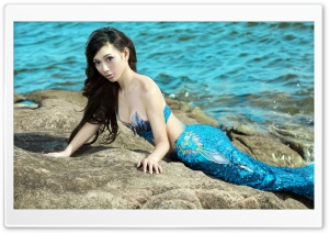Leah Dizon Mermaid HD Wide Wallpaper for Widescreen