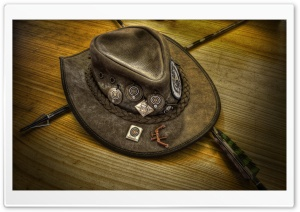 Leather Hat HD Wide Wallpaper for Widescreen