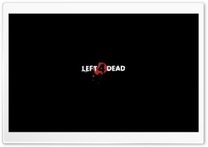 Left 4 Dead Logo Black HD Wide Wallpaper for Widescreen