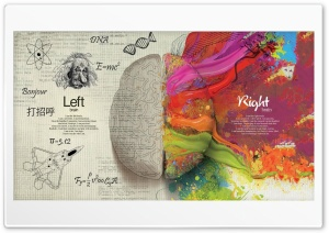Left  Right Brain HD Wide Wallpaper for Widescreen