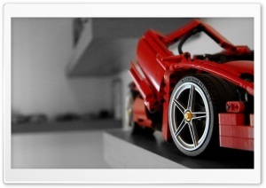 Lego Ferrari HD Wide Wallpaper for Widescreen