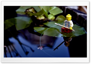 Lego Fishing HD Wide Wallpaper for 4K UHD Widescreen desktop & smartphone
