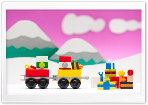 LEGO Train, Christmas HD Wide Wallpaper for Widescreen