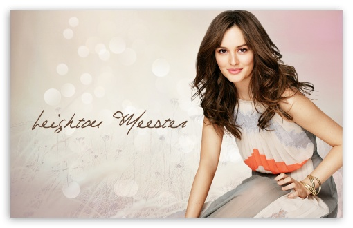 Leighton Meester HD wallpaper for Wide 16:10 5:3 Widescreen WHXGA WQXGA WUXGA WXGA WGA ; Standard 3:2 Fullscreen DVGA HVGA HQVGA devices ( Apple PowerBook G4 iPhone 4 3G 3GS iPod Touch ) ; Mobile 5:3 3:2 - WGA DVGA HVGA HQVGA devices ( Apple PowerBook G4 iPhone 4 3G 3GS iPod Touch ) ;