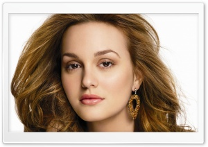 Leighton Meester Portrait HD Wide Wallpaper for Widescreen