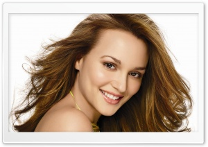 Leighton Meester Smile HD Wide Wallpaper for Widescreen