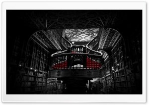 Lello Bookshop in Porto, Portugal HD Wide Wallpaper for Widescreen