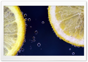 Lemon and Sparkling Water Ultra HD Wallpaper for 4K UHD Widescreen desktop, tablet & smartphone