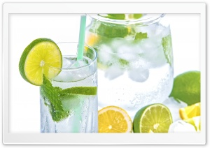 Lemon Lime Mint Soda Fresh Refreshment Drink HD Wide Wallpaper for Widescreen
