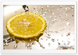 Lemon Water Splash HD Wide Wallpaper for Widescreen