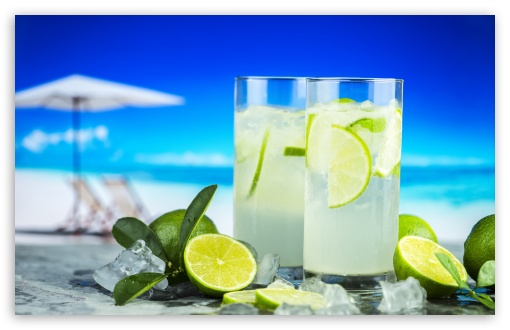 Lemonade Summer Cold Drinks 4K HD Desktop Wallpaper For 4K