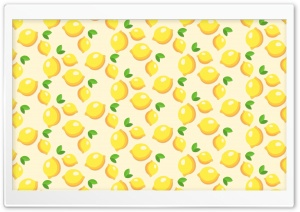 Lemons Pattern HD Wide Wallpaper for Widescreen