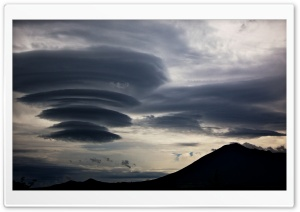Lenticular Clouds, Mount Iwate, Japan HD Wide Wallpaper for Widescreen