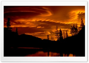 Lenticular Clouds, Yosemite, California HD Wide Wallpaper for Widescreen
