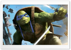 Leonardo TMNT Out Of The Shadows HD Wide Wallpaper for Widescreen
