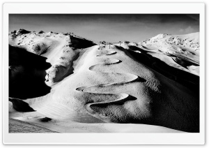 Les Deux Alpes BW HD Wide Wallpaper for Widescreen