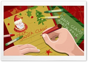 Letter For Santa Claus Christmas HD Wide Wallpaper for 4K UHD Widescreen desktop & smartphone