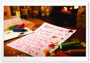Letter To Santa HD Wide Wallpaper for Widescreen
