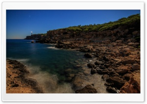 Leuchtturm Far del Moscater auf Ibiza HD Wide Wallpaper for Widescreen