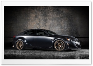 Lexus IS F Black Tuning HD Wide Wallpaper for Widescreen