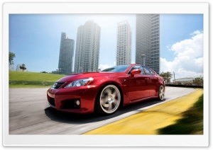 Lexus IS F Red HD Wide Wallpaper for Widescreen