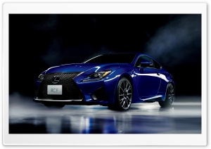 Lexus RC-F Blue Model Car HD Wide Wallpaper for Widescreen