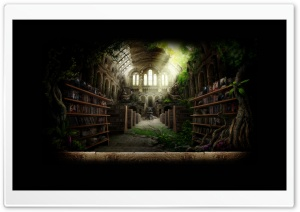 Library HD Wide Wallpaper for Widescreen