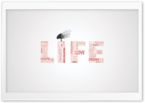 Life Typography HD Wide Wallpaper for Widescreen