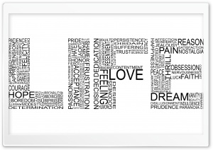 Life Typography HD Wide Wallpaper for 4K UHD Widescreen desktop & smartphone