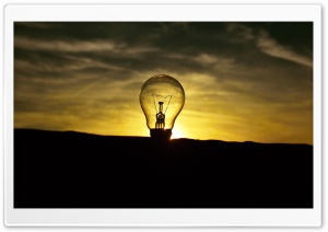 Light Bulb Ultra HD Wallpaper for 4K UHD Widescreen desktop, tablet & smartphone