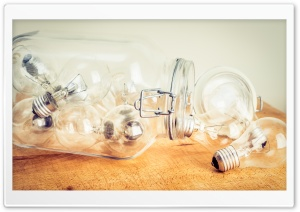 Light Bulbs in a Jar HD Wide Wallpaper for Widescreen