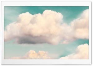 Light Green Sky and Fluffy Clouds HD Wide Wallpaper for Widescreen