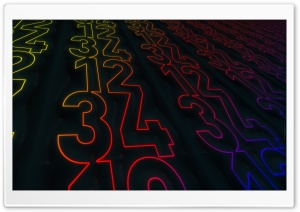 Light Numbers HD Wide Wallpaper for Widescreen