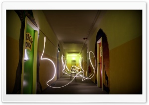Light Painting At The Dorm HD Wide Wallpaper for 4K UHD Widescreen desktop & smartphone