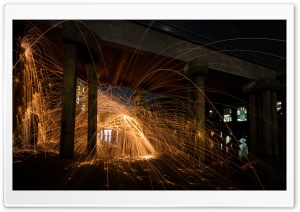 Light Painting Night Photography HD Wide Wallpaper for 4K UHD Widescreen desktop & smartphone