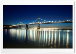 Lighted Bridge HD Wide Wallpaper for Widescreen