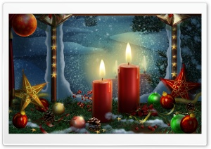 Lighted Candles HD Wide Wallpaper for Widescreen