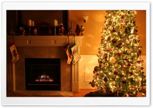 Lighted Christmas Tree HD Wide Wallpaper for Widescreen