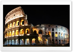 Lighted Colosseum HD Wide Wallpaper for Widescreen