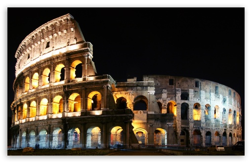 Lighted Colosseum HD wallpaper for Wide 16:10 5:3 Widescreen WHXGA WQXGA WUXGA WXGA WGA ; Standard 3:2 Fullscreen DVGA HVGA HQVGA devices ( Apple PowerBook G4 iPhone 4 3G 3GS iPod Touch ) ; Mobile 5:3 3:2 - WGA DVGA HVGA HQVGA devices ( Apple PowerBook G4 iPhone 4 3G 3GS iPod Touch ) ;