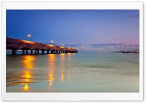 Lighted Pier HD Wide Wallpaper for Widescreen