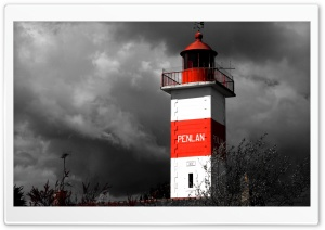 Lighthouse - Britanny France HD Wide Wallpaper for Widescreen
