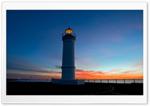 Lighthouse At Dusk HD Wide Wallpaper for Widescreen