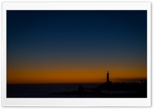 Lighthouse At Night HD Wide Wallpaper for Widescreen