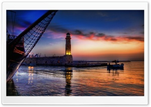 Lighthouse At Twilight HD Wide Wallpaper for Widescreen