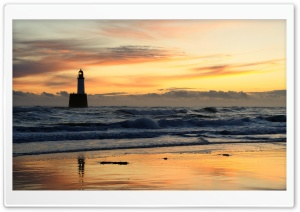 Lighthouse, Evening HD Wide Wallpaper for Widescreen