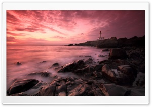 Lighthouse Sunset HD Wide Wallpaper for Widescreen