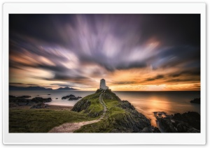 Lighthouse Ynys Llanddwyn Ultra HD Wallpaper for 4K UHD Widescreen desktop, tablet & smartphone