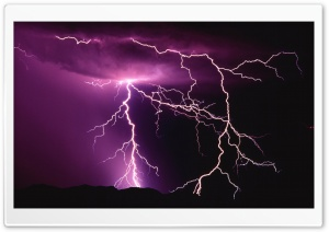 Lightning Storm HD Wide Wallpaper for Widescreen