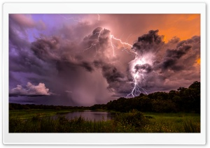 Lightning Strike HD Wide Wallpaper for 4K UHD Widescreen desktop & smartphone
